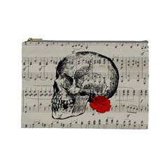 Skull and rose  Cosmetic Bag (Large)