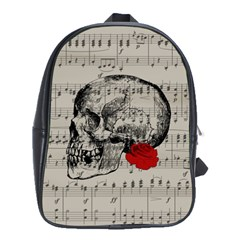 Skull And Rose  School Bags(large)