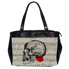 Skull and rose  Office Handbags (2 Sides)