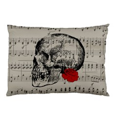 Skull and rose  Pillow Case (Two Sides)