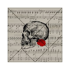 Skull and rose  Acrylic Tangram Puzzle (6  x 6 )