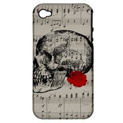 Skull and rose  Apple iPhone 4/4S Hardshell Case (PC+Silicone)