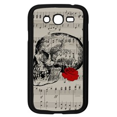 Skull and rose  Samsung Galaxy Grand DUOS I9082 Case (Black)