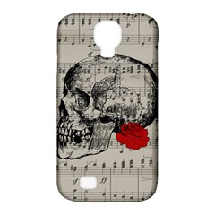 Skull and rose  Samsung Galaxy S4 Classic Hardshell Case (PC+Silicone)
