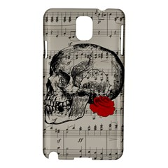 Skull and rose  Samsung Galaxy Note 3 N9005 Hardshell Case