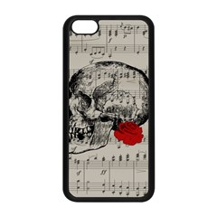 Skull and rose  Apple iPhone 5C Seamless Case (Black)