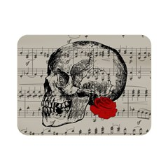Skull and rose  Double Sided Flano Blanket (Mini)