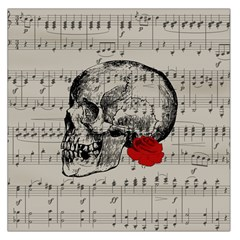 Skull and rose  Large Satin Scarf (Square)