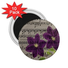 Vintage purple flowers 2.25  Magnets (10 pack)
