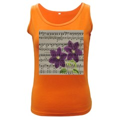 Vintage purple flowers Women s Dark Tank Top