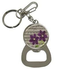 Vintage purple flowers Button Necklaces