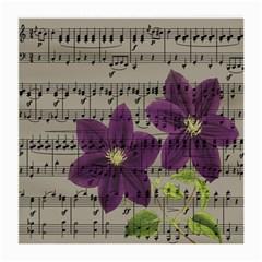 Vintage purple flowers Medium Glasses Cloth (2-Side)