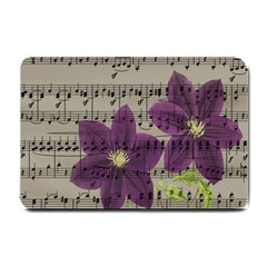 Vintage purple flowers Small Doormat