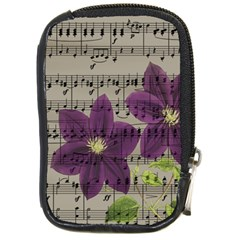 Vintage purple flowers Compact Camera Cases