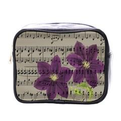 Vintage purple flowers Mini Toiletries Bags
