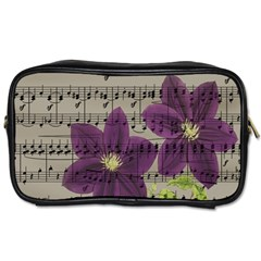 Vintage purple flowers Toiletries Bags 2-Side