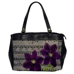 Vintage purple flowers Office Handbags