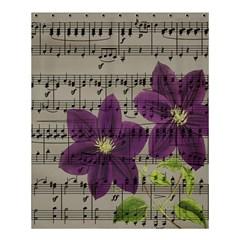 Vintage purple flowers Shower Curtain 60  x 72  (Medium)