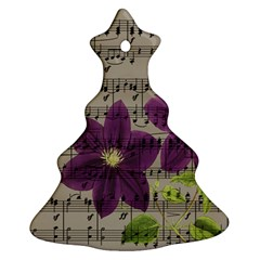 Vintage purple flowers Ornament (Christmas Tree)