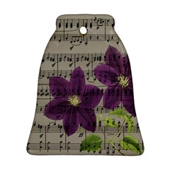 Vintage purple flowers Bell Ornament (Two Sides)