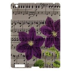 Vintage purple flowers Apple iPad 3/4 Hardshell Case