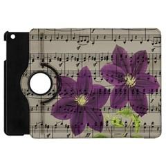 Vintage purple flowers Apple iPad Mini Flip 360 Case