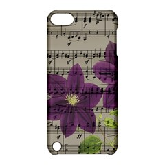 Vintage purple flowers Apple iPod Touch 5 Hardshell Case with Stand