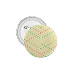 Abstract Yellow Geometric Line Pattern 1.75  Buttons