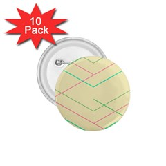 Abstract Yellow Geometric Line Pattern 1.75  Buttons (10 pack)