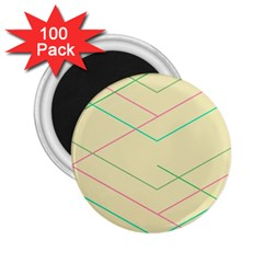 Abstract Yellow Geometric Line Pattern 2.25  Magnets (100 pack)