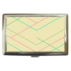 Abstract Yellow Geometric Line Pattern Cigarette Money Cases