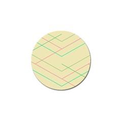 Abstract Yellow Geometric Line Pattern Golf Ball Marker