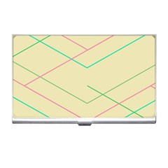 Abstract Yellow Geometric Line Pattern Business Card Holders