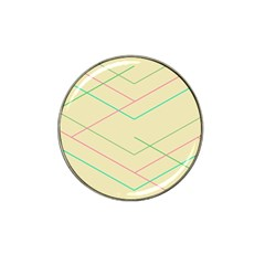 Abstract Yellow Geometric Line Pattern Hat Clip Ball Marker (4 pack)