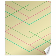 Abstract Yellow Geometric Line Pattern Canvas 8  X 10