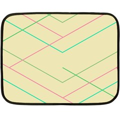 Abstract Yellow Geometric Line Pattern Fleece Blanket (mini)