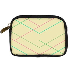 Abstract Yellow Geometric Line Pattern Digital Camera Cases
