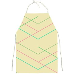 Abstract Yellow Geometric Line Pattern Full Print Aprons