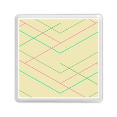 Abstract Yellow Geometric Line Pattern Memory Card Reader (square)