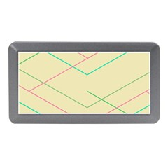 Abstract Yellow Geometric Line Pattern Memory Card Reader (Mini)