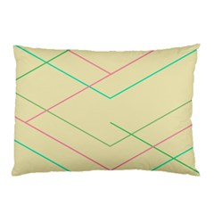 Abstract Yellow Geometric Line Pattern Pillow Case (two Sides)