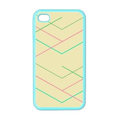 Abstract Yellow Geometric Line Pattern Apple iPhone 4 Case (Color)