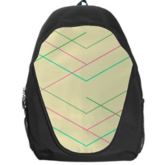 Abstract Yellow Geometric Line Pattern Backpack Bag