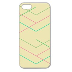 Abstract Yellow Geometric Line Pattern Apple Seamless iPhone 5 Case (Clear)