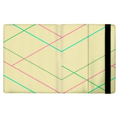 Abstract Yellow Geometric Line Pattern Apple Ipad 2 Flip Case