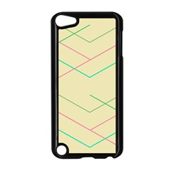 Abstract Yellow Geometric Line Pattern Apple iPod Touch 5 Case (Black)