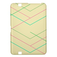 Abstract Yellow Geometric Line Pattern Kindle Fire HD 8.9