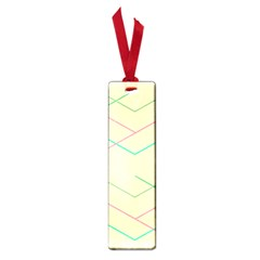 Abstract Yellow Geometric Line Pattern Small Book Marks