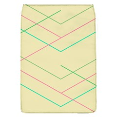 Abstract Yellow Geometric Line Pattern Flap Covers (l)