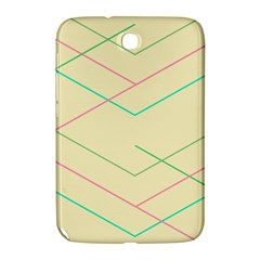 Abstract Yellow Geometric Line Pattern Samsung Galaxy Note 8.0 N5100 Hardshell Case